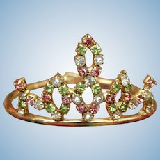Vintage rhinestone tiara/crown for doll