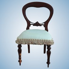 Cute vintage mahogany doll chair