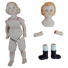 Small vintage bisque dolls to assemble