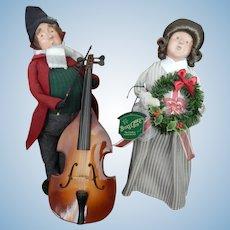 Vintage Byer's Choice caroler dolls