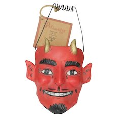Rare Dept. 56 Poliwoggs devil candy container