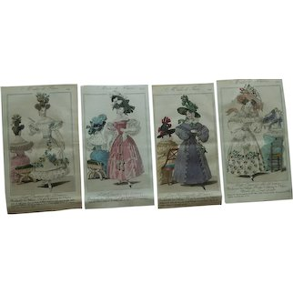 Antique Regency French fashion plates