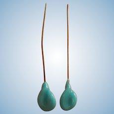 Lovely antique French earrings for doll
