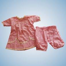 Cute antique dress & pantaloons for large bebe