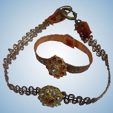 Beautiful metallic necklace & bracelet for bebe