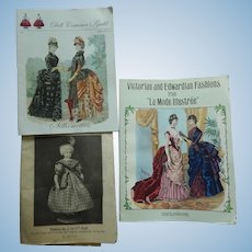 French fashion doll pattern/ book lot