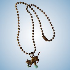 Cute old kitty necklace for bebe