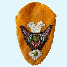 Antique beaded wool doll pocket/purse