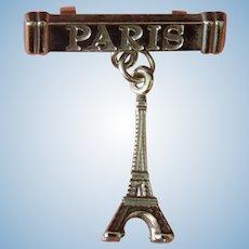 Vintage Paris Eiffel pin for bebe