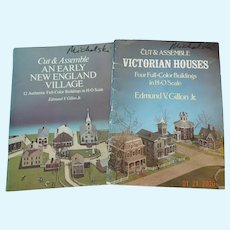 Vintage miniature paper villages to assemble-HO scale