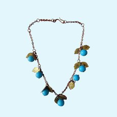 Beautiful old glass beaded necklace for Jumeau/Bru bebe