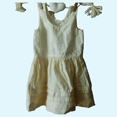 Lovely antique cotton & wool chemise for large bebe