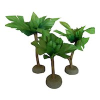 Set of cute vintage palm trees for doll display