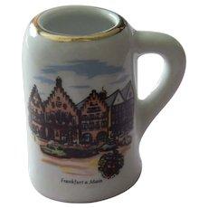 Vintage miniature porcelain Reutter Germany beer mug