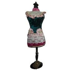 Vintage paper mache & wood doll dress mannequin