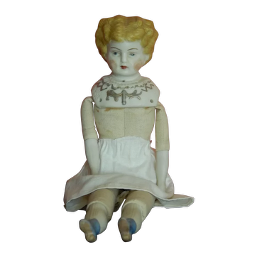 """Nice old 12"""" white bisque parian doll"""
