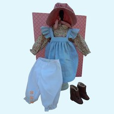 "Vintage pioneer girl outfit for 16"" doll"