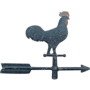 Wonderful antique miniature rooster weather vane for dollhouse