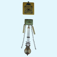 Vintage dollhouse battery operated brass clock parts