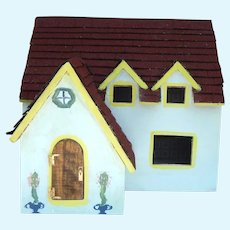 Cute vintage handmade wooden dollhouse