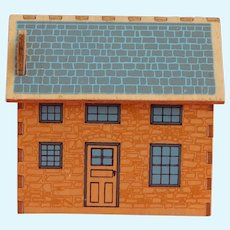 Little vintage wooden dollhouse for your dollhouse