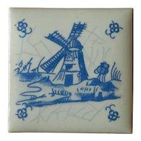 Old vintage miniature tile from Copenhagen Denmark