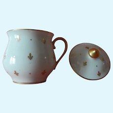 Beautiful Limoges France porcelain lidded cup for bebe