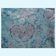 Gorgeous vintage paisley fabric for doll dresses, 3+ yds
