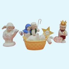 Vintage Dept.56 Snowbabies nativity