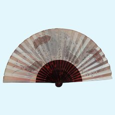 Beautiful antique fan for large bebe-hand dated