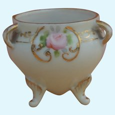 Lovely small antique Nippon porcelain footed bowl for doll