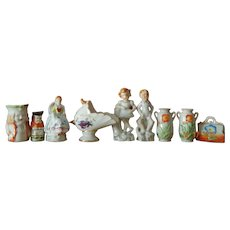 Antique Japan porcelain miniatures for doll/dollhouse display