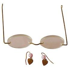 Vintage eye glasses & earrings for bebe