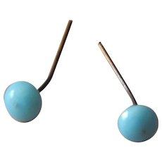 Rare antique Jumeau doll earrings