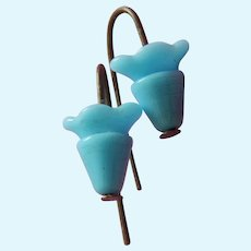 Lovely turquoise blue glass earrings for bebe