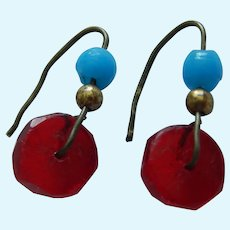 Pretty antique Jumeau doll earrings!