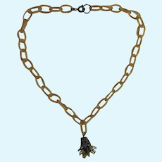 Lovely old doll necklace with celluloid chain