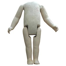 Nice old jointed paper mache doll body