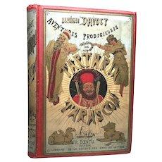 Antique Nineteenth Century Chromolithograph French Book Tartarin