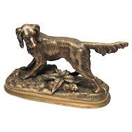 Fine Nineteenth Century French Bronze Figural Jules Moigniez Signed Sculpture