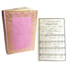 Antique 19th Century French Almanach Aux Dames With Original Box