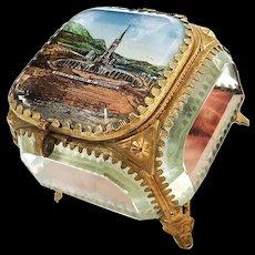 Antique Nineteenth Century French Grand Tour Eglomise Trinket Coffre Box