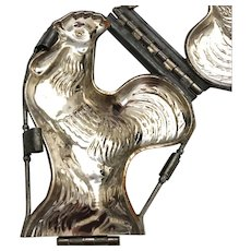 Large Vintage Towey Gandi Standing Rooster Metal Chocolate Mold