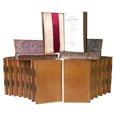 Twenty Volumes Antique French Bindings Histoire d'Angleterre circa 1825