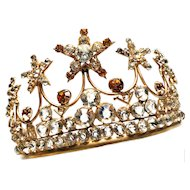 Large Stunning Antique Nineteenth Century French Religious Crown