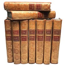 Antique Eighteenth Century French Bindings, Oeuvres de Piron, circa 1776