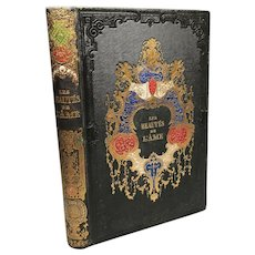 Antique 19th Century French Romantic Binding, Beautes de L'Ame