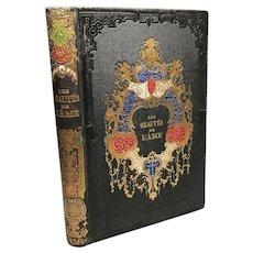 Antique 19th Century French Romantic Binding, Beautes de L'Ame