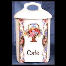Vintage 1940's Czech. Porcelain Cafe Canister
