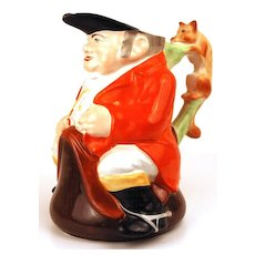 English Toby Pitcher, Equestrian with Fox Handle
